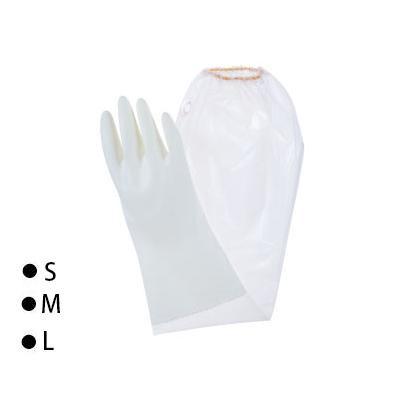 東和コーポレーション(TOWA) 腕カバー付手袋 ビニスター腕カバー付 うす手 ホワイト 10双 767「他の商品と同梱不可/北海道、沖縄、離島別途送料」
