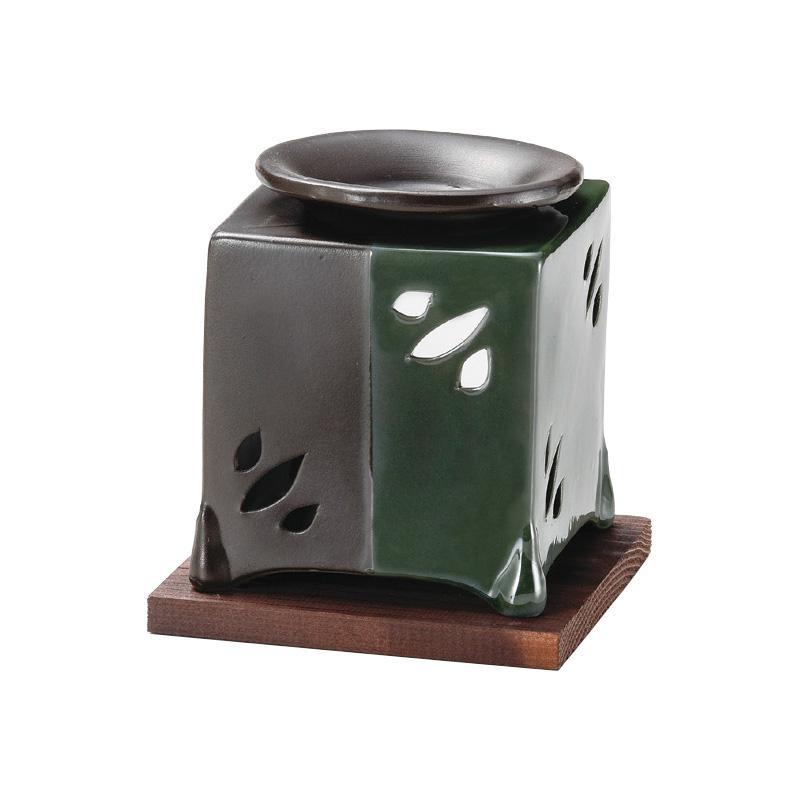 山房黒オリベ角型茶香炉 G-1610「他の商品と同梱不可/北海道、沖縄、離島別途送料」