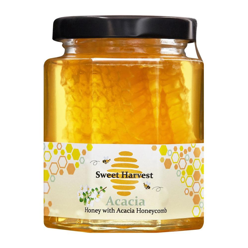 ◎【代引不可】Sweet Harvest(スイートハーベスト) アカシアはちみつ巣入り 250g×12個セット「他の商品と同梱不可/北海道、沖縄、離島別途送料」