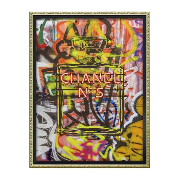 ユーパワー オマージュ キャンバスアート 「グラフィティ パフューム2(Mサイズ)」 BC-12036「他の商品と同梱不可/北海道、沖縄、離島別途送料」