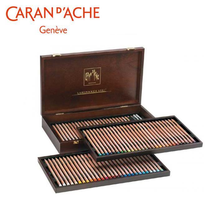 カランダッシュ 6901-476 ルミナンス色鉛筆 76色セット 木箱入 619834「他の商品と同梱不可/北海道、沖縄、離島別途送料」