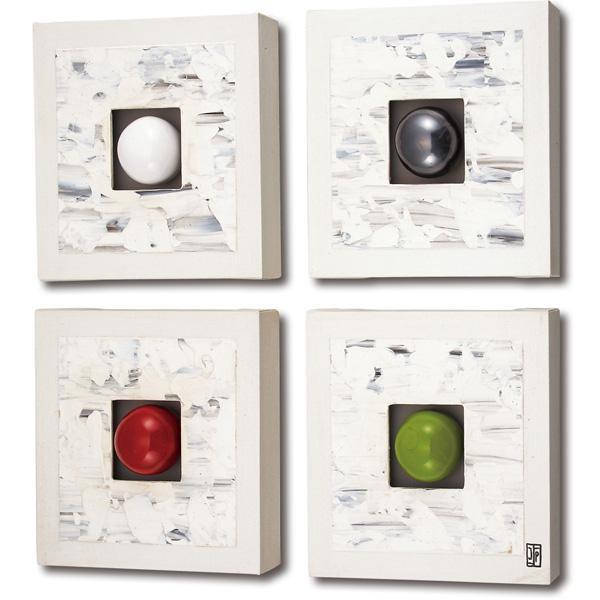 ユーパワー ポロアート 4枚セット 「メランジュ ホワイト」 POA1516C「他の商品と同梱不可/北海道、沖縄、離島別途送料」