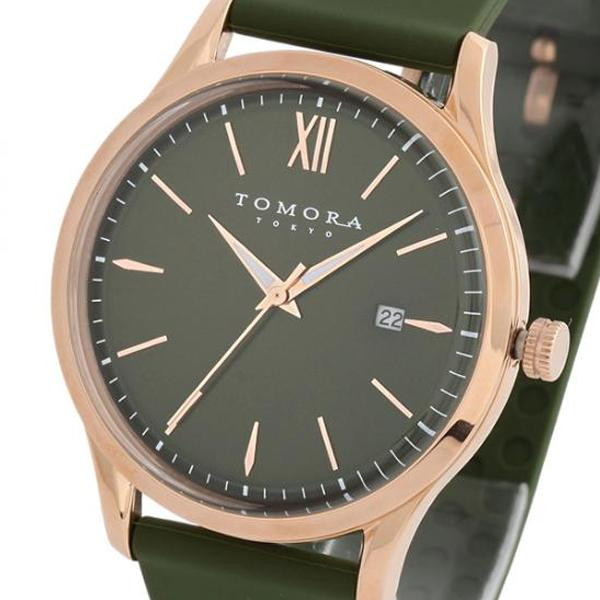 TOMORA TOKYO(トモラ トウキョウ) 腕時計 T-1605-PGR「他の商品と同梱不可/北海道、沖縄、離島別途送料」