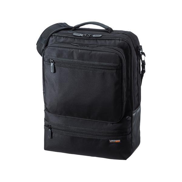 サンワサプライ 3WAYビジネスバッグ(縦型・通勤用) BAG-3WAY23BK「他の商品と同梱不可/北海道、沖縄、離島別途送料」