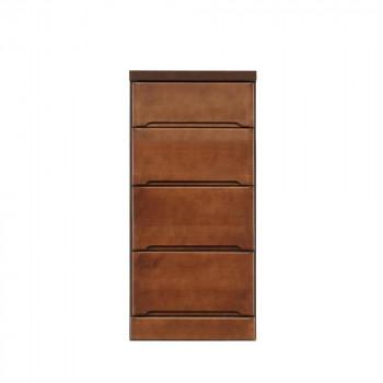 【代引不可】クライン サイズが豊富なすきま収納チェスト ブラウン色 4段 幅40cm「他の商品と同梱不可」