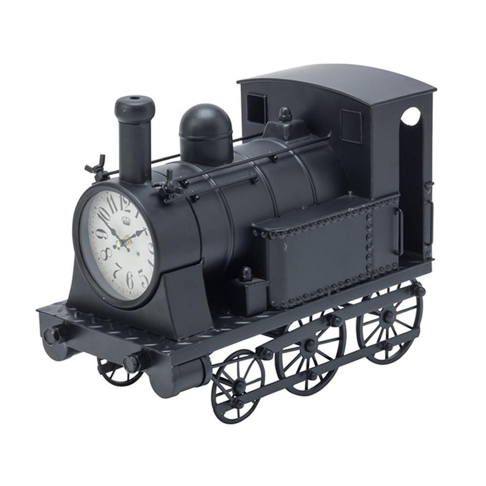 イシグロ 機関車クロック ブラック・31253「他の商品と同梱不可」