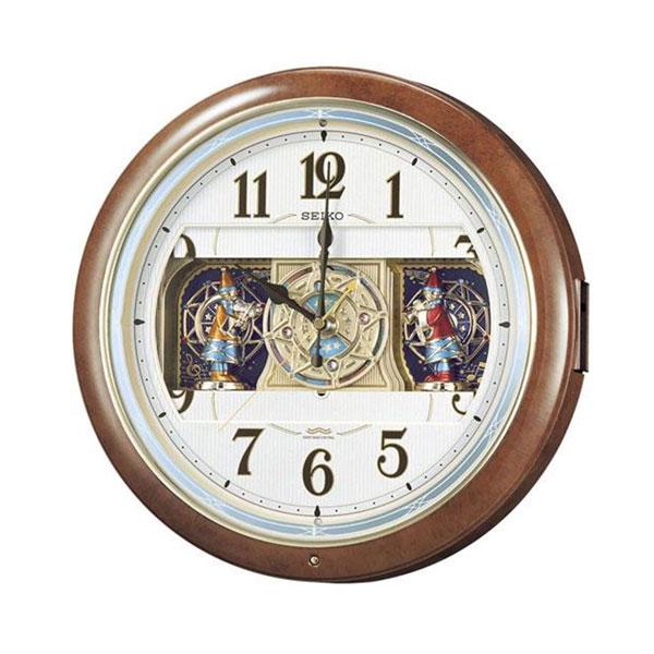 SEIKO セイコークロック 電波クロック 掛時計 からくり時計 ウエーブシンフォニー RE559H「他の商品と同梱不可/北海道、沖縄、離島別途送料」