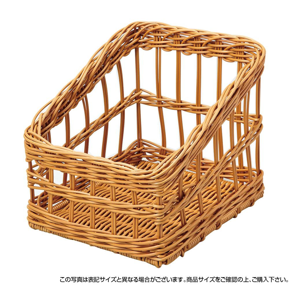 萬洋 樹脂フランスパンスタンド角(茶・大) 91-107B「他の商品と同梱不可/北海道、沖縄、離島別途送料」