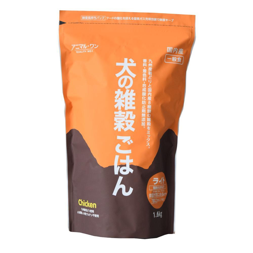【代引不可】犬の雑穀ごはんライト(チキン) 1.6kg×6入 P31-212「他の商品と同梱不可/北海道、沖縄、離島別途送料」