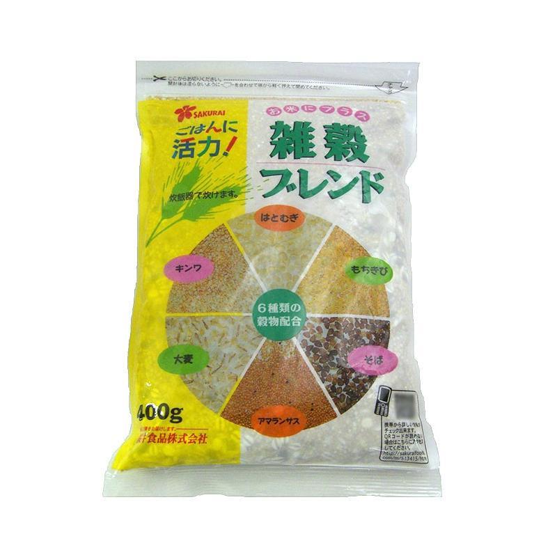 【代引不可】桜井食品 雑穀ブレンド 400g×24個「他の商品と同梱不可/北海道、沖縄、離島別途送料」