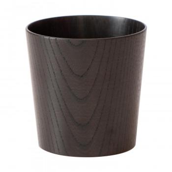 木のコップ 欅 漆黒 5個セット「他の商品と同梱不可/北海道、沖縄、離島別途送料」