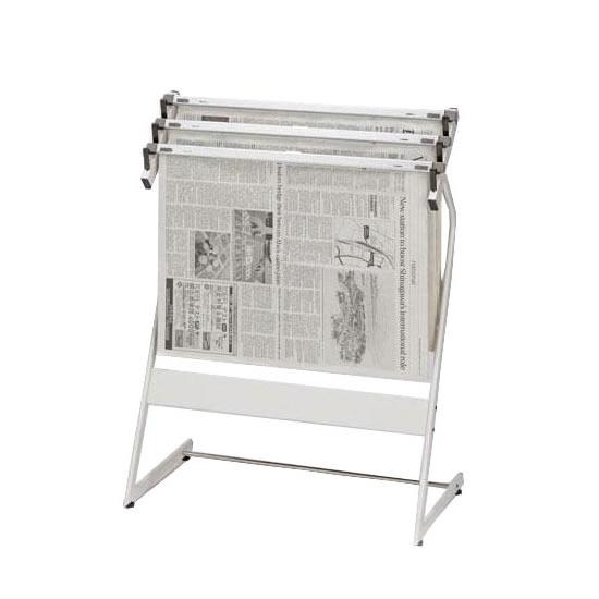 ナカキン 新聞架 3本掛 371NS-343-WG「他の商品と同梱不可」