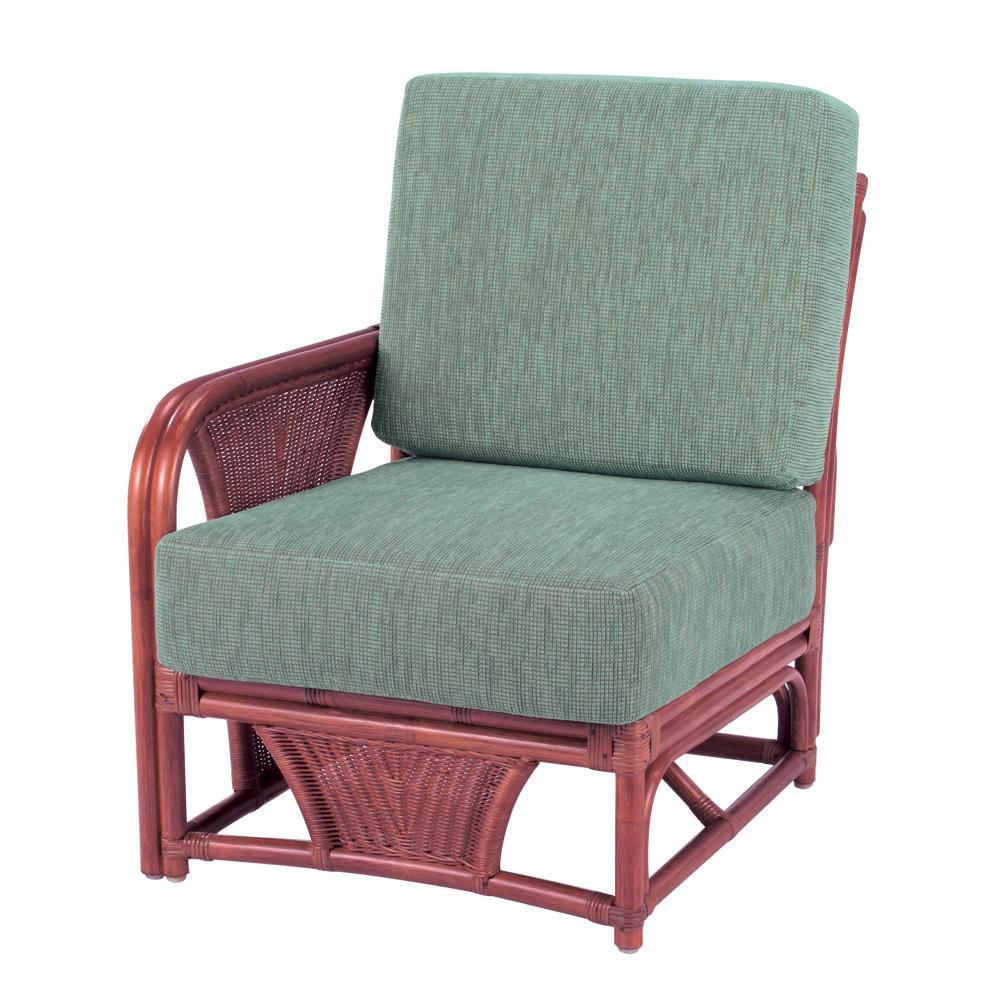 今枝ラタン 籐 アームチェア 肘付き椅子(ワンアームタイプ) スコルピス A-600-1D「他の商品と同梱不可/北海道、沖縄、離島別途送料」