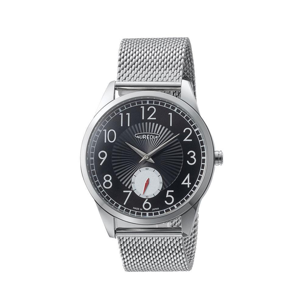 AUREOLE(オレオール) 日本製 メンズ 腕時計 SW-615M-A「他の商品と同梱不可/北海道、沖縄、離島別途送料」