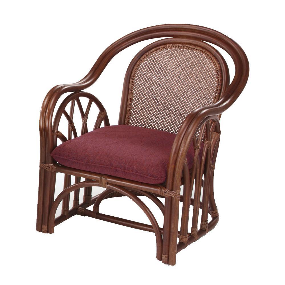 今枝ラタン 籐 アームチェア 肘付き椅子 アルファー A-321D「他の商品と同梱不可/北海道、沖縄、離島別途送料」
