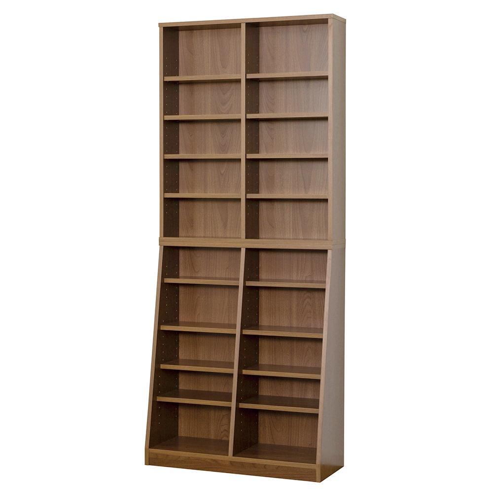 【代引不可】SOHO 書棚 W75 ウォルナット 31142「他の商品と同梱不可/北海道、沖縄、離島別途送料」