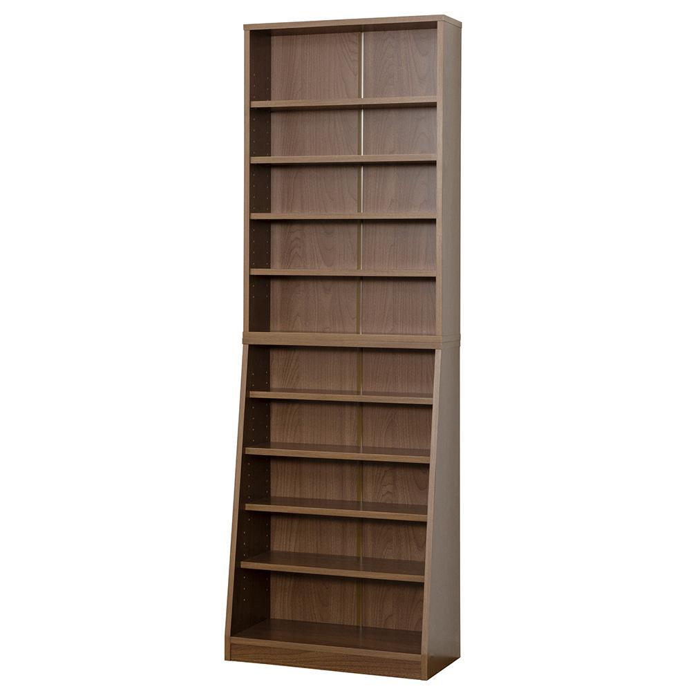 【代引不可】SOHO 書棚 W60 ウォルナット 31141「他の商品と同梱不可/北海道、沖縄、離島別途送料」