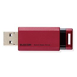 <沖縄/離島別途送料>メーカー欠品完売時はご容赦下さい ☆エレコム SSD 外付け ポータブル 500GB 小型 ノック式 USB3.2(Gen1)対応 レッド PS4/PS4Pro/PS5 ESD-EPK0500GRD