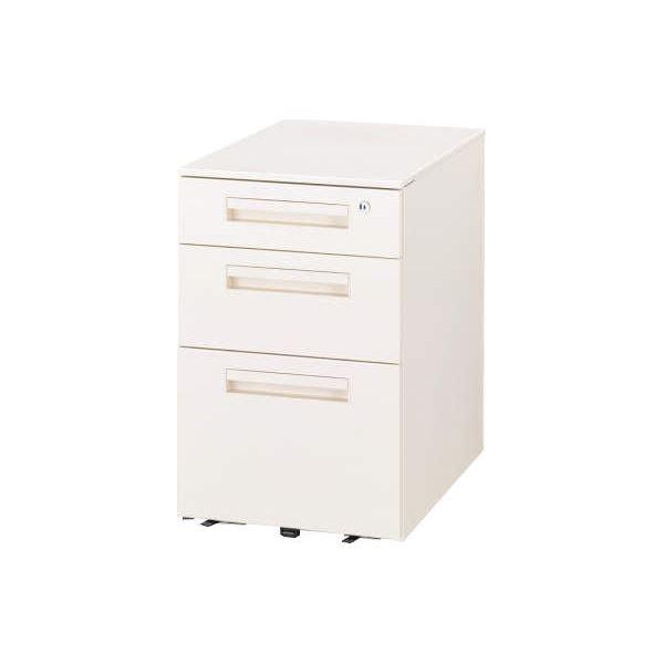◇デスク収納 サイドワゴン VD-043A-W ホワイト※他の商品と同梱不可
