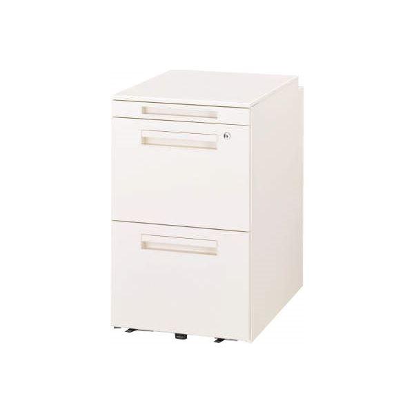 ◇デスク収納 サイドワゴン 3段 VD-042AH-W ホワイト※他の商品と同梱不可