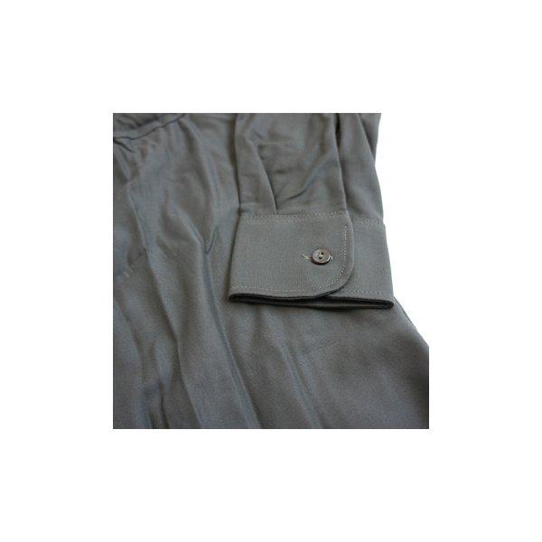 ◇ドイツ軍放出 BW フィールドシャツ・後染め ブラウン JS001ND GR.3(L)※他の商品と同梱不可