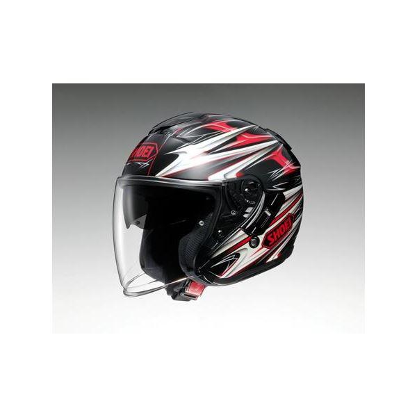 ◇ショウエイ(SHOEI) ヘルメット J-CRUISE CLEAVE TC-1 レッド/ブラック M※他の商品と同梱不可