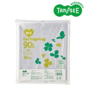 ◇(まとめ)TANOSEE ポリエチレン収集袋 透明 90L 30枚入×10パック※他の商品と同梱不可