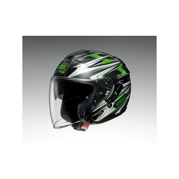 ◇ショウエイ(SHOEI) ヘルメット J-CRUISE CLEAVE TC-4 グリーン/ブラック M※他の商品と同梱不可