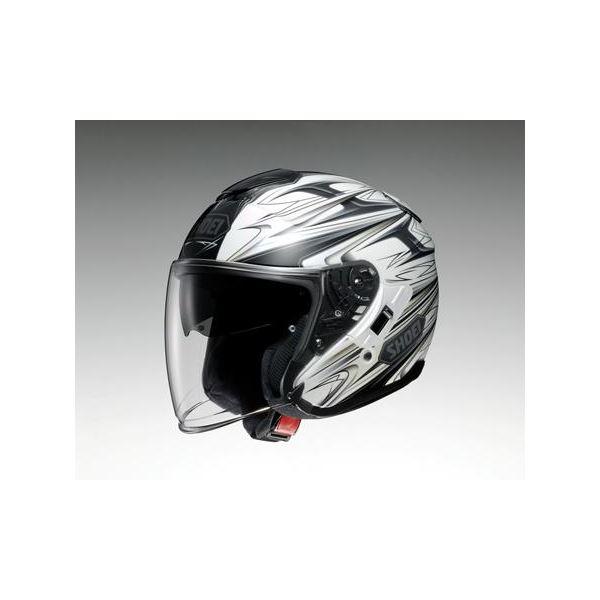 ◇ショウエイ(SHOEI) ヘルメット J-CRUISE CLEAVE TC-6 ホワイト/グレー XL※他の商品と同梱不可