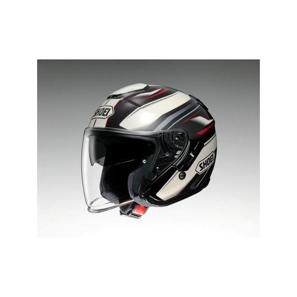 ◇ショウエイ(SHOEI) ヘルメット J-CRUISE PASSE TC-10 BR/ホワイト L※他の商品と同梱不可