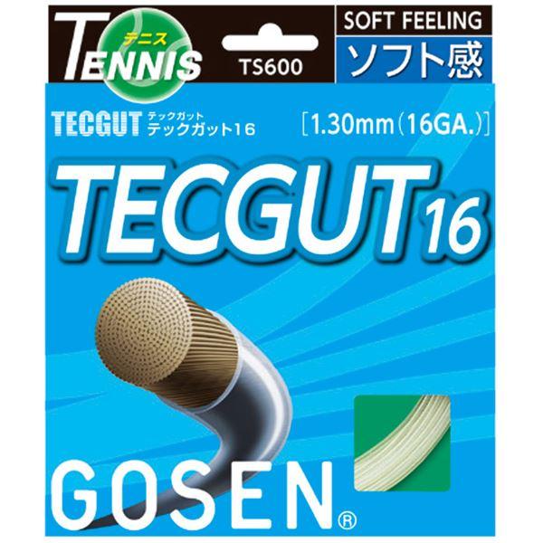 ◇GOSEN(ゴーセン) テックガット テックガット16 TS600W20P※他の商品と同梱不可