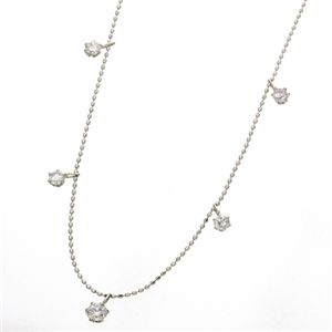 ◇プラチナPt1.2ctダイヤモンドステーションネックレス