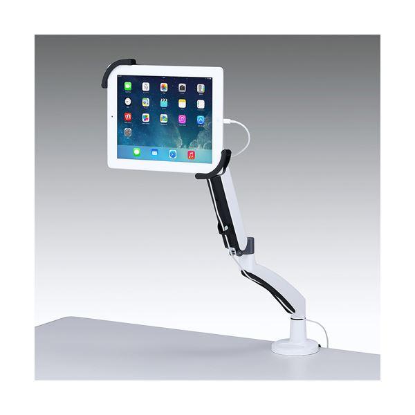 ◇サンワサプライ 7~11インチ対応水平垂直iPad・タブレット用アーム CR-LATAB6※他の商品と同梱不可