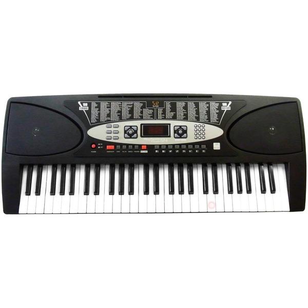 ◇SunRuck(サンルック) PlayTouchFlaSh54 発光キー 電子ピアノ SR-DP01 ブラック※他の商品と同梱不可