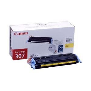 ◇純正品 キヤノン(Canon) トナーカートリッジ 色:イエロー 型番:カートリッジ307(Y) 印字枚数:2000枚 単位:1個※他の商品と同梱不可