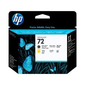 ◇【純正品】 HP インクカートリッジ プリントヘッド マッドブラック/イエロー 型番:C9384A(HP72) 単位:1個※他の商品と同梱不可