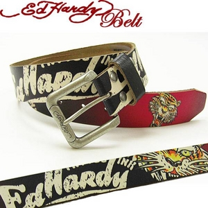 ◇ Ed Hardy Belt(エドハーディー ベルト)レザー ベルト【EH1386】NEW TIGER ニュータイガー ユニセックス XS ※他の商品と同梱不可