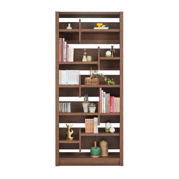 ◇ユーアイ NEO RAIDER(レイダー) 書棚85 飾り棚 ライトブラウン L-850H LBR【代引不可】※他の商品と同梱不可