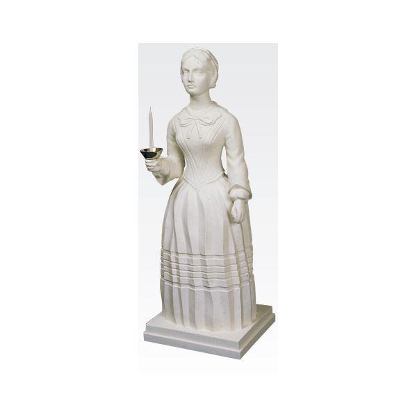 ◇ナイチンゲール立像 【燭台付き】 高さ100cm T-103-0【代引不可】※他の商品と同梱不可