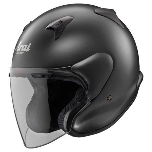 ◇ジェットヘルメット シールド付き MZ-F フラットブラック 61-62 【バイク用品】※他の商品と同梱不可