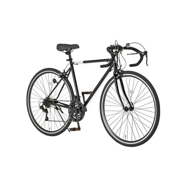 ◇ロードバイク 700c(約28インチ)/ブラック(黒) シマノ21段変速 重さ/14.6kg 【Grandir Sensitive】【代引不可】※他の商品と同梱不可