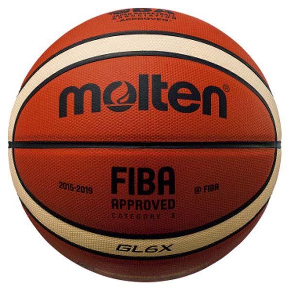 ◇モルテン(Molten) バスケットボール6号球 GL6X 国際公認球・JBA検定球 BGL6X※他の商品と同梱不可