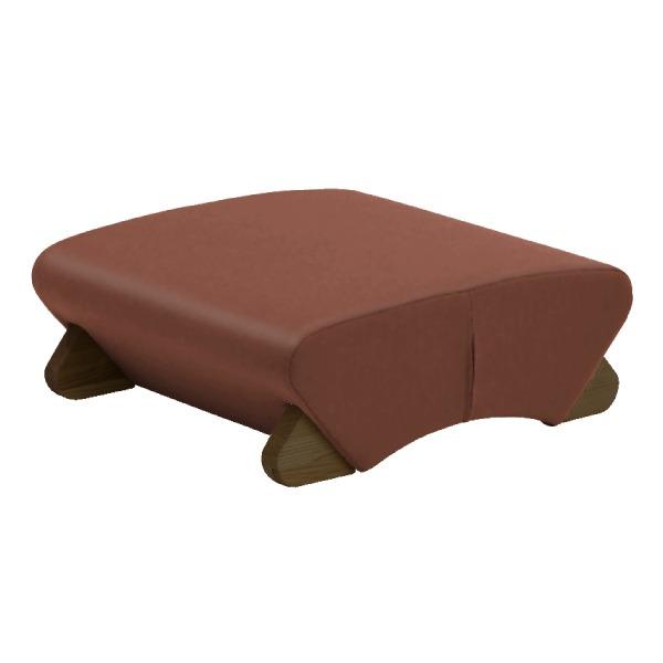 ◇デザイン座椅子 脚:ダーク/ビニールレザー:ブラウン 【Mona.Dee モナディー】WAS-F※他の商品と同梱不可
