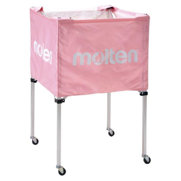 ◇モルテン(Molten) 折りたたみ式ボールカゴ(中・背高 屋内用) ピンク BK20HPK※他の商品と同梱不可