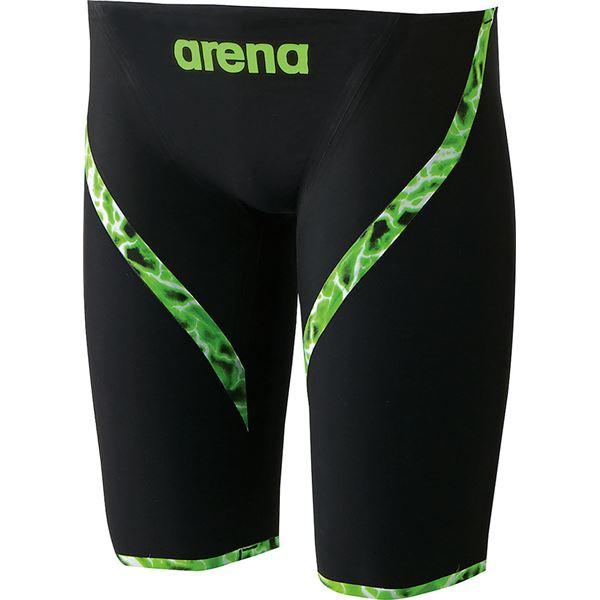 ◇デサント ARENA(アリーナ) AQUAFORCE LIGHTNING ジュニアハーフスパッツ ARN6001MJ ブラック×ブラック×ブラック×ブラック R150※他の商品と同梱不可