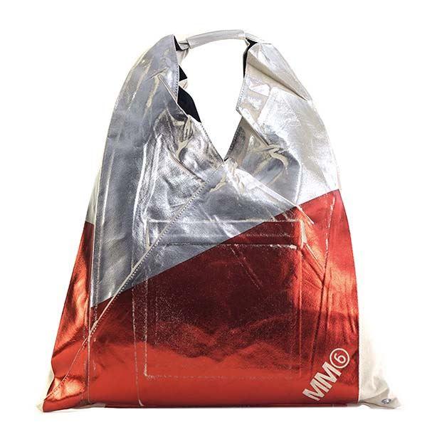 ◇MM6 MAISON MARGIELA(エムエム 6 メゾン マルジェラ) ハンドバッグ S54WD0039 303 SILVER RED※他の商品と同梱不可