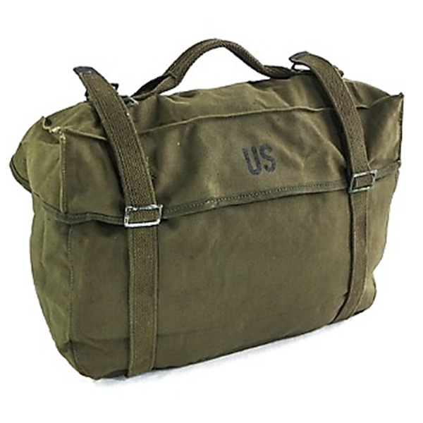 ◇アメリカ軍放出M1945帆布綿キャンパスカーゴバック未使用デットストック※他の商品と同梱不可