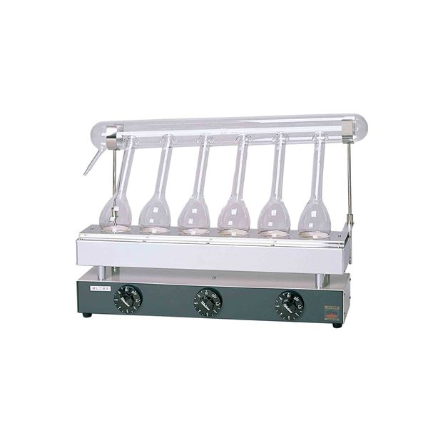 ◇【柴田科学】セミ・ミクロケルダール窒素分解器 SE-6型 054710-05※他の商品と同梱不可