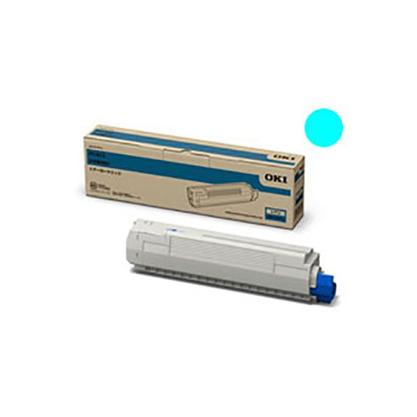 ◇【純正品】 OKI 沖データ トナーカートリッジ 【TNR-C3PC1 C シアン】※他の商品と同梱不可