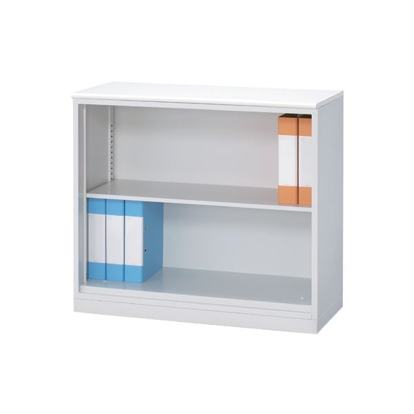 ◇東京鋼器 オープン書庫 2段窓下 MST073-OBT※他の商品と同梱不可